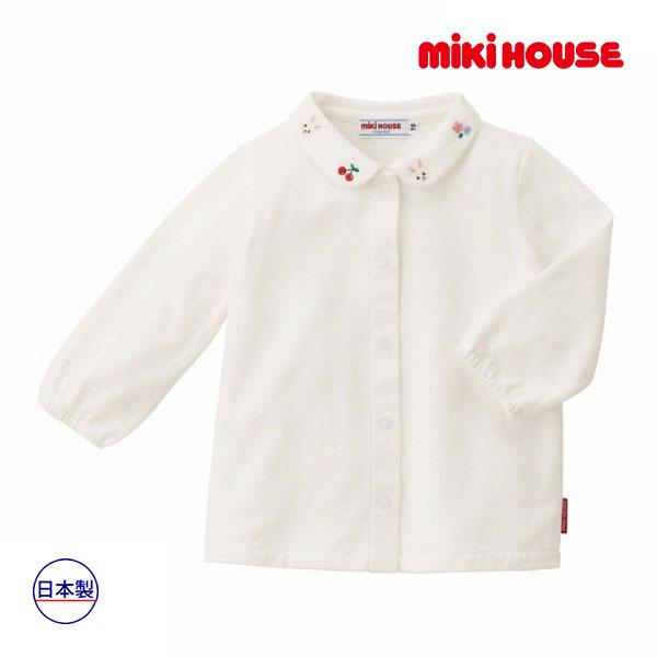 (海外販売専用)ミキハウス正規販売店/ミキハウス mikihouse ブラウス(70cm・80cm・90cm・100cm)