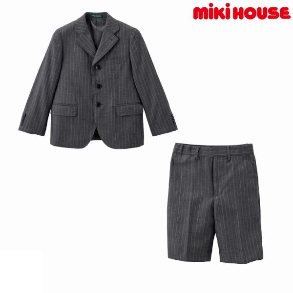 ミキハウスコレクション【MIKI HOUSE COLLECTION】ストライプスーツ(120cm・130cm)