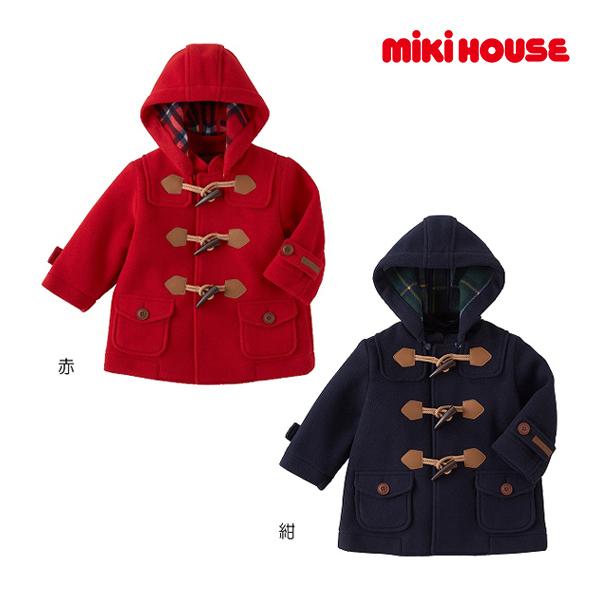 ミキハウス【MIKI HOUSE】【トラッドスタイル】フリース☆ダッフルコート(100cm・110cm)