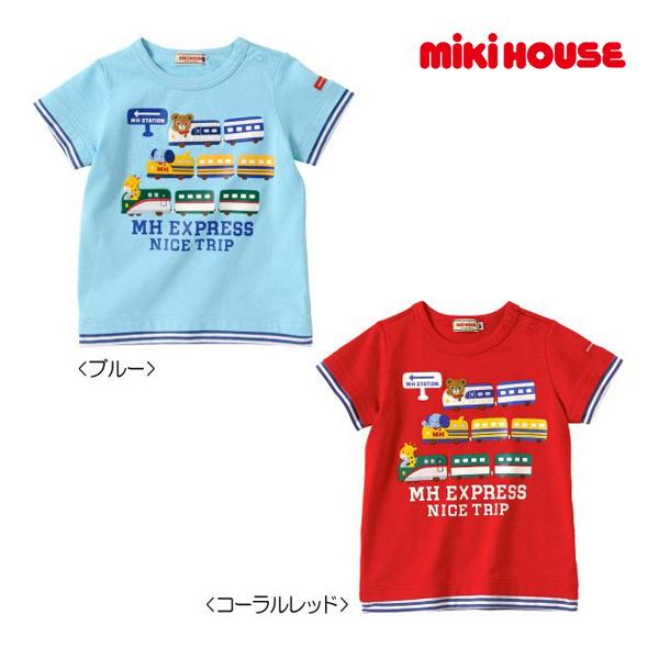 (海外販売専用)ミキハウス【MIKI HOUSE】MHエクスプレス☆重ね着風半袖Tシャツ(120cm)