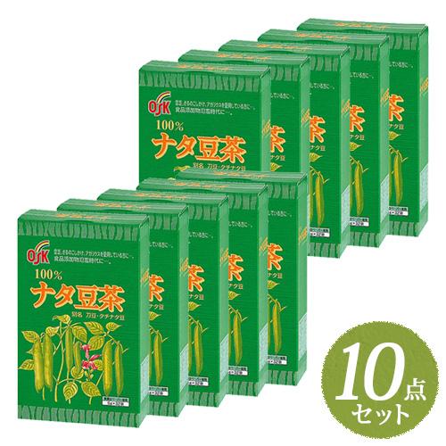【最安値に挑戦】大感謝祭|【送料無料】OSK ナタ豆茶 160g (5g×32袋) まとめ買い10点セット【小谷穀粉】