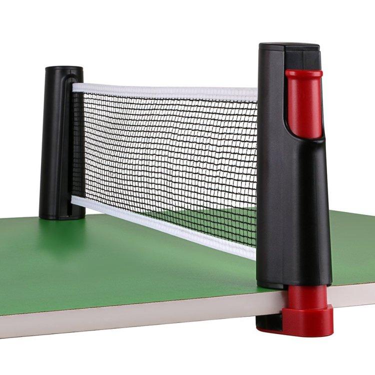 ポータブル卓球用ネット マート 最大幅1.9m 伸縮式 ご家庭のテーブルが卓球台に 爆買い送料無料 取付簡単 クランプ式支柱 収納便利 簡易型ピンポンネット 軽量 HOP-PPN190C 携帯式卓球ネット 送料無料 アウトドアでも