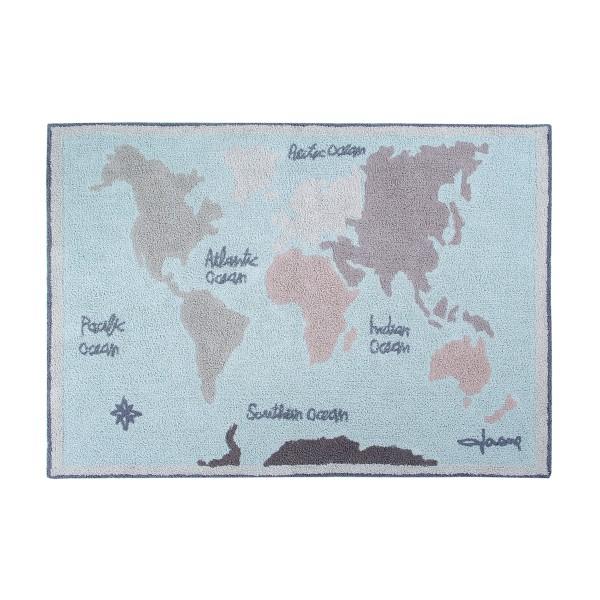 【LORENA CANALS ロレーナカナルズ】洗える ラグ ヴィンテージマップ ウォッシャブルラグ ヨーロッパ インポート ハンドメイド 輸入 おしゃれ 赤ちゃん 子供部屋 プレイマット プレイルーム 手作り コットン