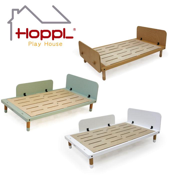 【公式ストア】HOPPL ホップルKids Bed キッズ ベッドベッドフレーム・ヘッドガード・フットガード 1人寝 北欧 3歳 4歳 5歳 6歳 マット 枕 木製 子供 人気 幼稚園 保育園 入園 入学
