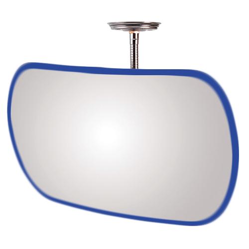 防犯ミラー 安全確認ミラー 点検ミラー HB-変形 ブルー 青 アクリル製 安全確認 死角 安心 安全 防犯 室内 屋内 ミラー 鏡 日本製 万引き防止 簡単 取り付け