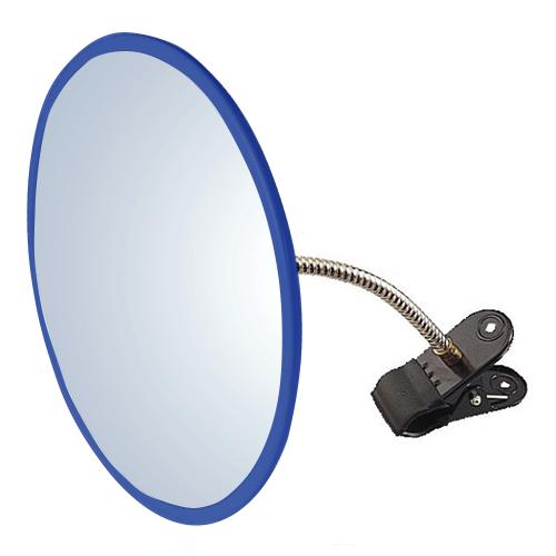 防犯ミラー 安全確認ミラー HB-丸45 クリップ 青 アクリル製 安全確認 死角 安心 安全 防犯 室内 屋内 ミラー 鏡 日本製 万引き防止 簡単 取り付け
