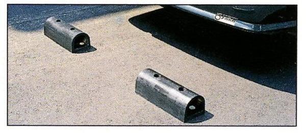 カーストッパー ゴム 車止めブロック PS-3 車止め 1セット2個入 安心の厚さ15ミリ