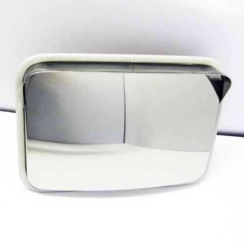ステンレス製カーブミラー(ガレージミラー) HPS-角50グレー