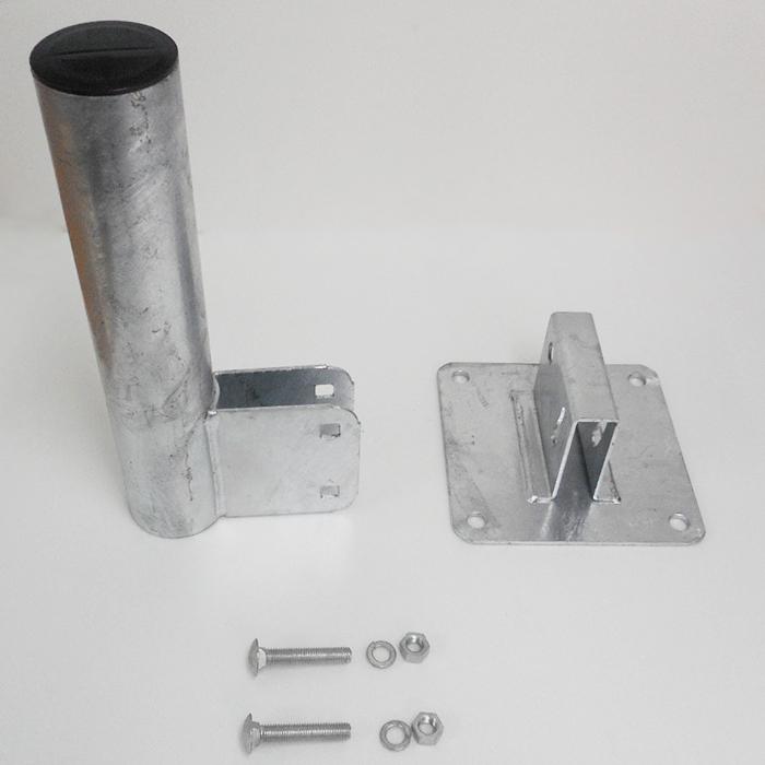 カーブミラー用 壁面取付金具 HPS-勾配付き壁面用金具