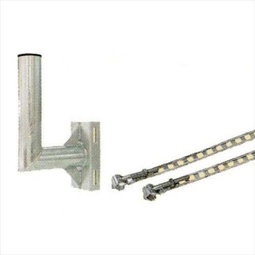アクリルミラー 電柱用取付金具 HPLS-電柱用金具(大)
