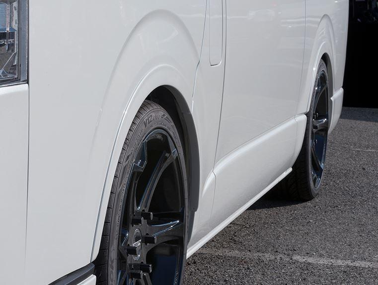 CRS ESSEX ハイエース レジアスエース 200系 リーガルフェンダー 6mm 百貨店 塗装済 物品 エセックス エセックスリーガルフェンダー シーアールエス