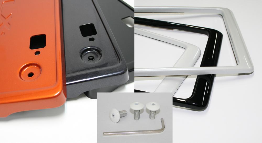 LXモード C-HR ZYX10/NGX50 LX フロントライセンスベース+リアライセンスフレーム+ナンバービスセット 塗装済 LX-MODE 配送先条件有り