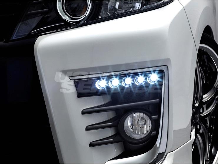 アドミレイション ヴォクシー ZWR ZRR 80 85 LEDスポットKIT 5連 純正バンパー用 単色塗装済 ADMIRATION DEPORTE デポルテ 個人宅発送追金有