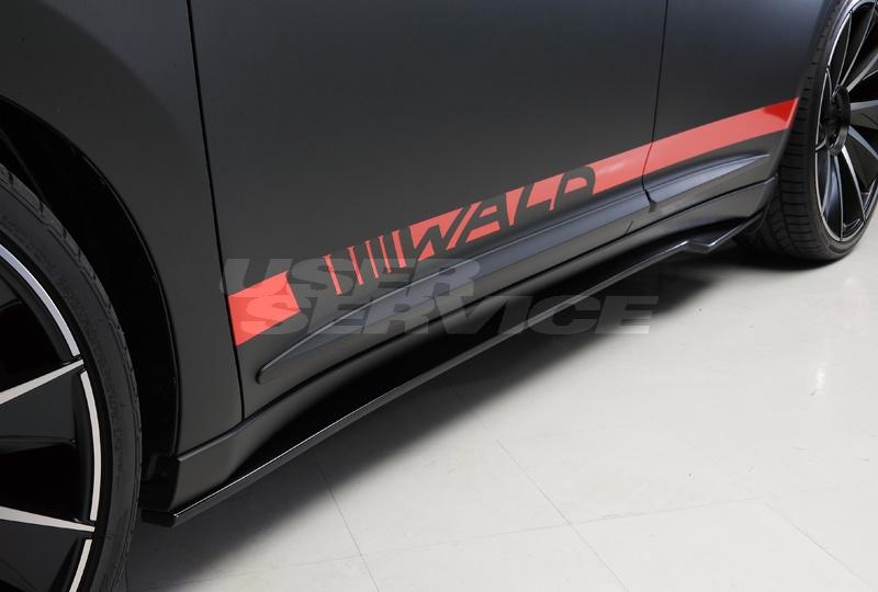 WALD ヴァルド ハリアー AVU65W サイドステップ 未塗装 SPORTS LINE BLACK BISON EDITION ブラックバイソン エディション