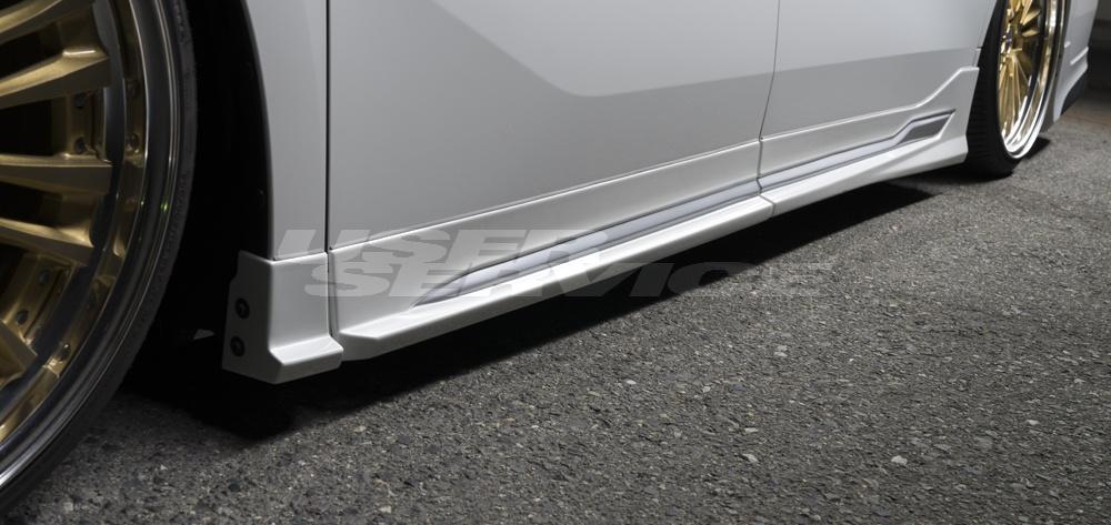 WALD ヴァルド ヴェルファイア 30系 Z ZG ZR サイドステップ メッキガーニッシュ別売 未塗装 EXECUTIVE LINE エグゼクティブライン