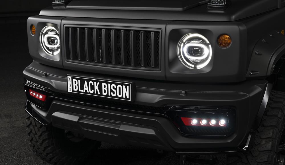 WALD ヴァルド ジムニー シエラ LEDランプ フロントバンパースポイラー用 SPORTS LINE BLACK BISON EDITION スポーツラインブラックエディション