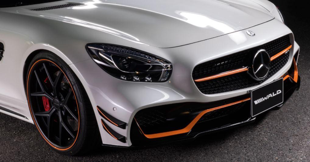 WALD ヴァルド メルセデス・ベンツ AMG GT フロントバンパースポイラー 未塗装 SPORTS LINE BLACK BISON EDITION スポーツラインブラックエディション
