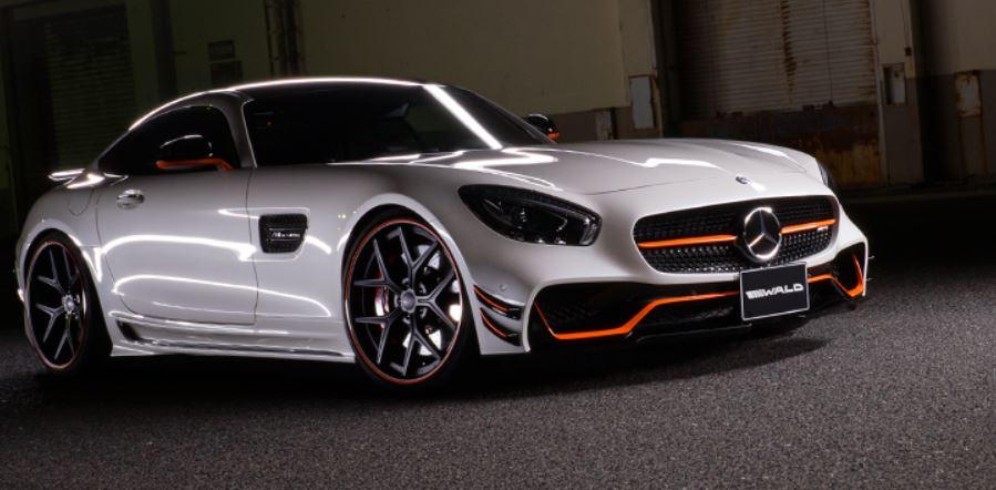 WALD ヴァルド メルセデス・ベンツ AMG GT サイドステップ 未塗装 SPORTS LINE BLACK BISON EDITION スポーツラインブラックエディション