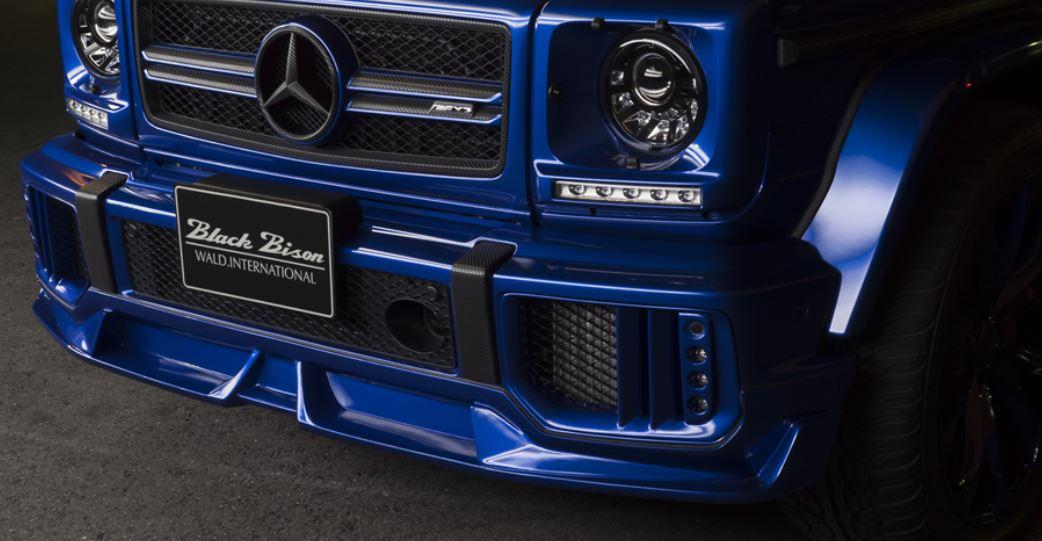 WALD ヴァルド メルセデス・ベンツ AMG G63 フロントスポイラー 未塗装 SPORTS LINE BLACK BISON EDITION スポーツラインブラックエディション