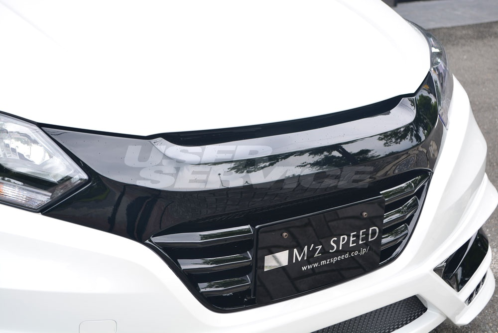 M'z SPEED エムズスピード フロントグリル 塗装済 ヴェゼル RU1/2/3/4 エクスクルーシブ ゼウス ZEUS ラブライン 2371-4112