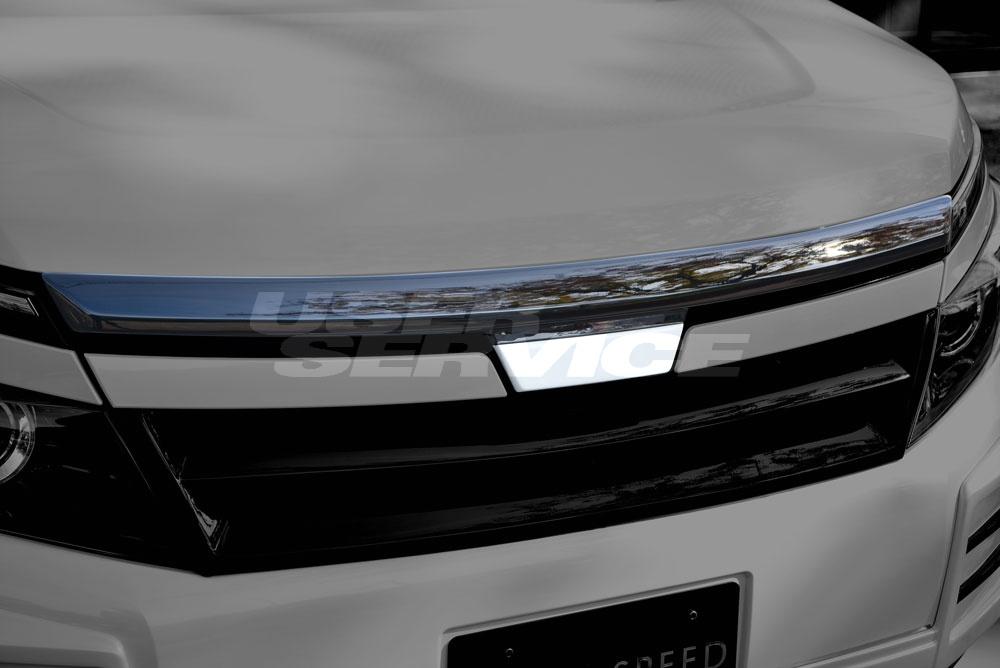 M'z SPEED エムズスピード フードトップモール 2色塗り分け塗装済 ヴォクシー ZRR80G V/X/XCパッケージ エクスクルーシブ ゼウス ZEUS グレースライン