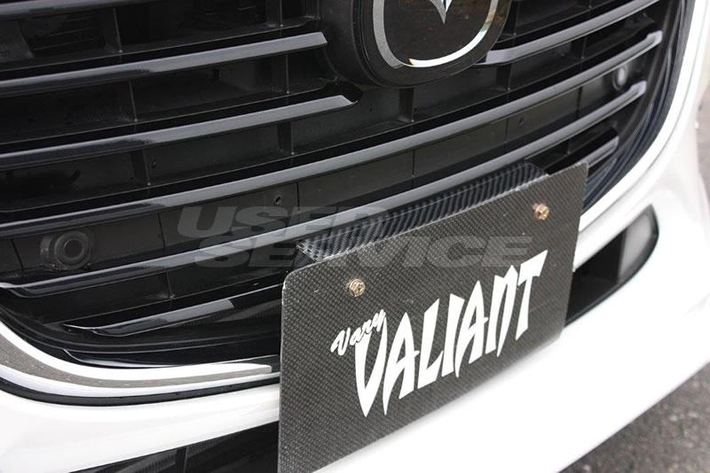 ガレージベリー アクセラスポーツ BM系 後期 ナンバーステー 綾織カーボン 20-7014 GARAGE VARY VALIANT ヴァリアント
