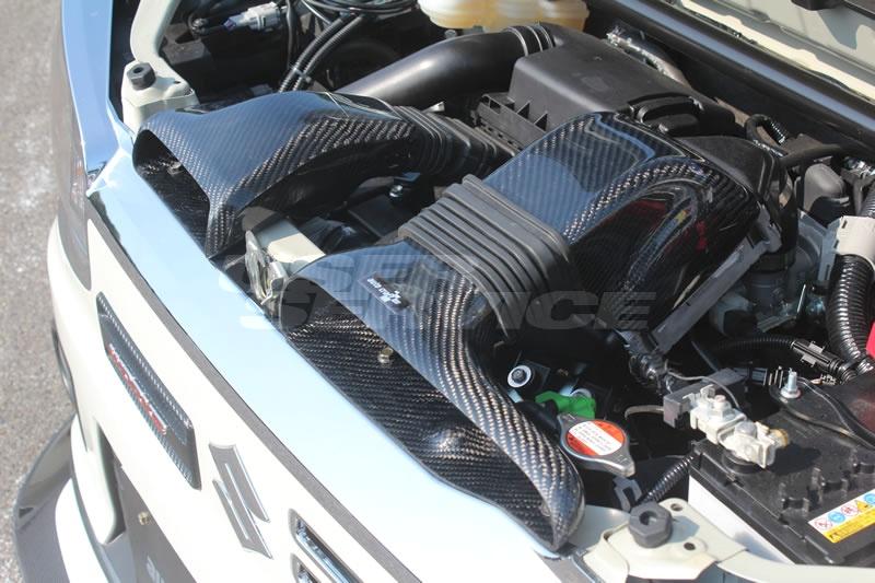 ガレージベリー アルト アルトワークス HA36S インタークーラーカバー 綾織カーボン 500-007 GARAGE VARY