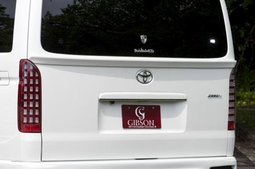 配送先条件有り リアゲートスポイラ― 200系 未塗装 GIBSON ギブソン ハイエース ワイドスーパーロング