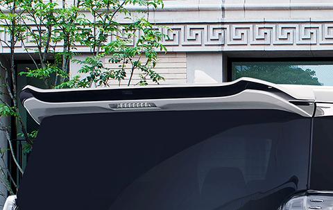 ヴェルファイア ヴェルファイアハイブリッド 30系 後期 リアウィング ウイング 単色塗装 シルクブレイズ GL-30VE-RW SILK BLAZE