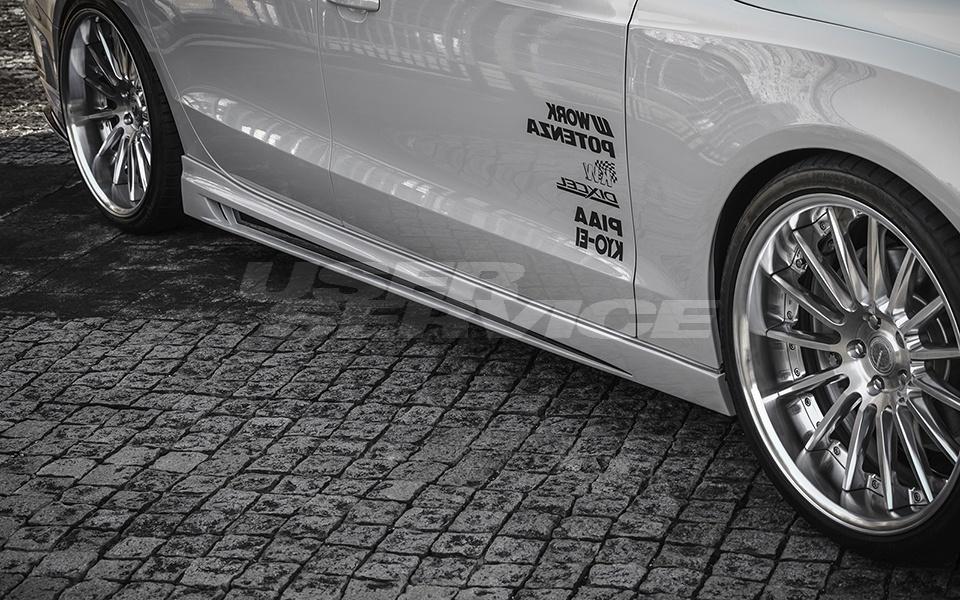ROWEN ロウェン A5 SPORTBACK DBA-8TCDN サイドステップ facelift Bumper type 未塗装 プレミアムエディション PREMIUM edition トミーカイラ 1A003J00