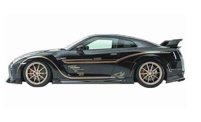 ロウェン ワールドプラチナム GT-R GTR R35 サイドステップ 1N005J10 ROWEN
