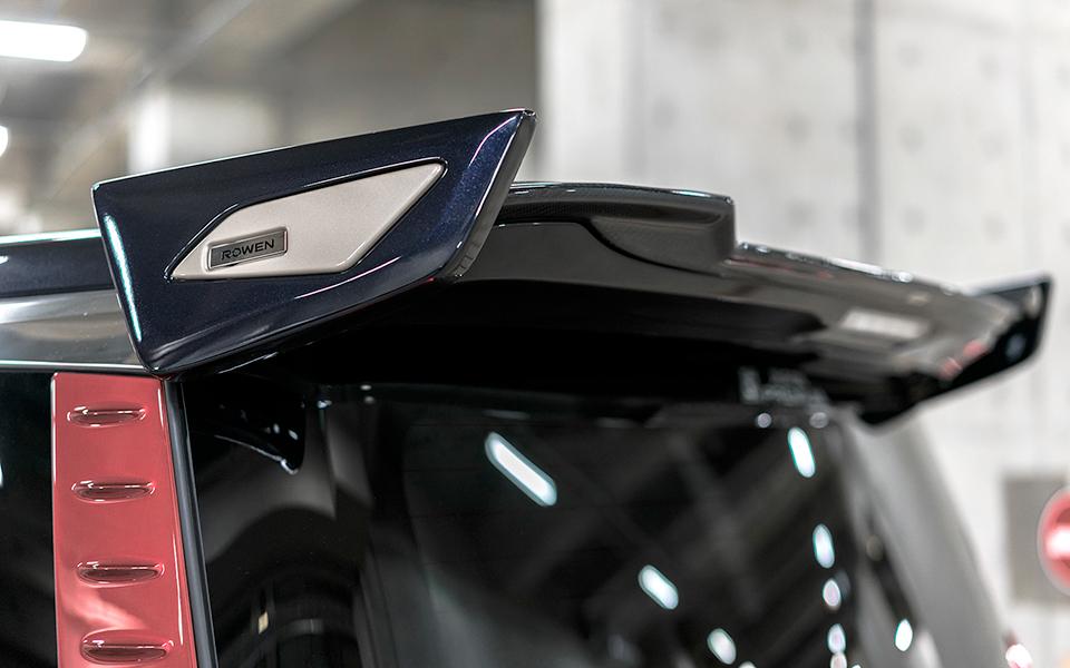 ロウェン アルモア アルファード 30系 AGH3#W GGH3#W AYH30W 後期 リヤウイング ウィング 5PCS CARBON+FRP+ABS パーツ別塗装済み 1T018W10# ROWEN