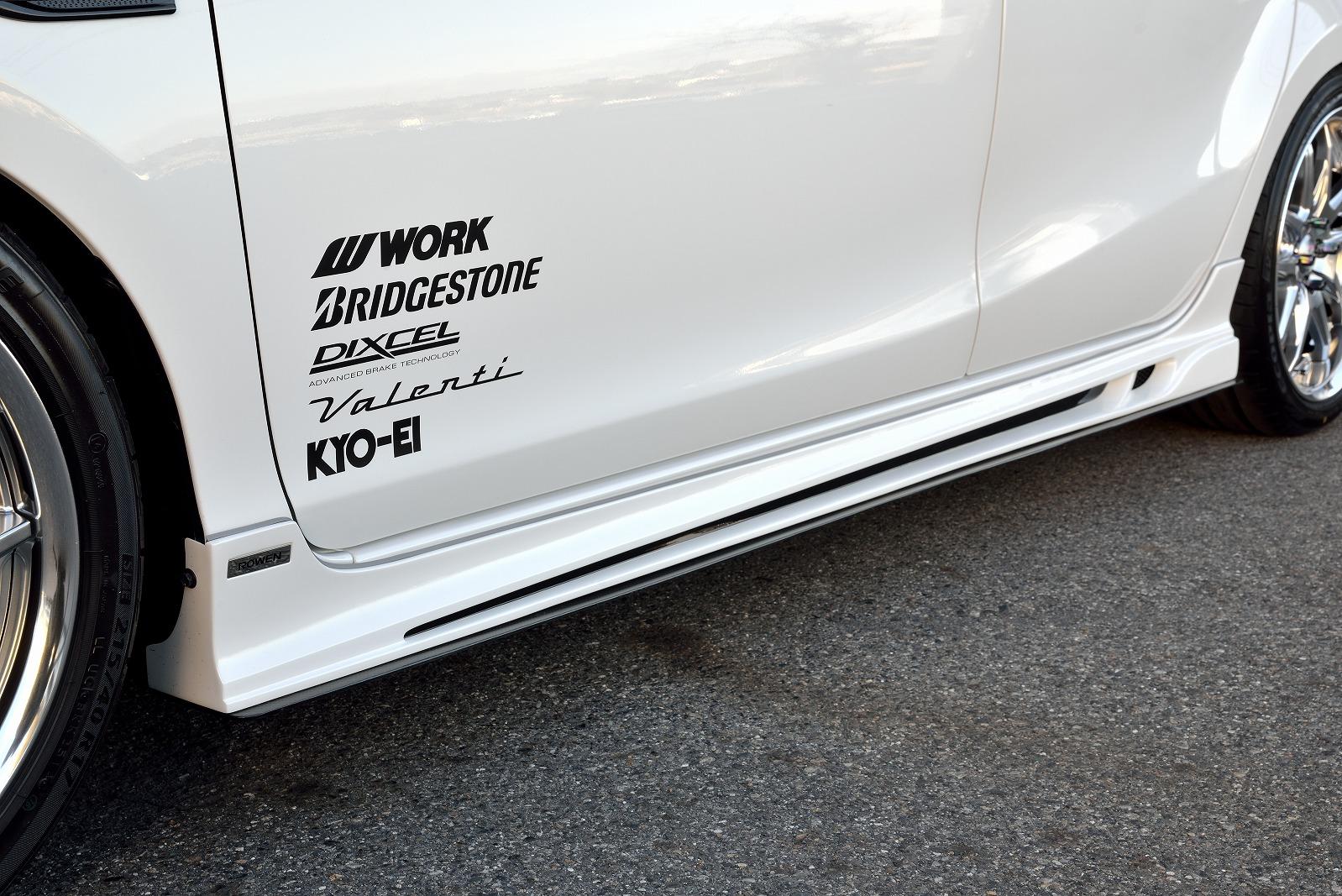 ロウェン アクア NHP10 GRスポーツ サイドステップ FRP 塗り分け塗装1T006J00## ROWEN