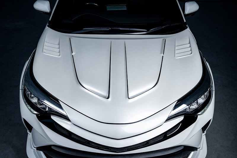 ロウェン ジャパン プレミアム C-HR 全グレード ZYX11 NGX10 NGX50 RRレーシングボンネット FRP 単色塗装 1T026B00# ROWEN