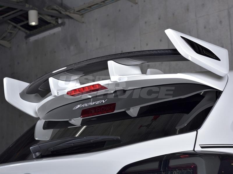 ロウェン プレミアムエディション レヴォーグ VM4 VMG リヤウイング ウィング Ver.2 FRP+Wet Carbon 未塗装 1S009R10 ROWEN