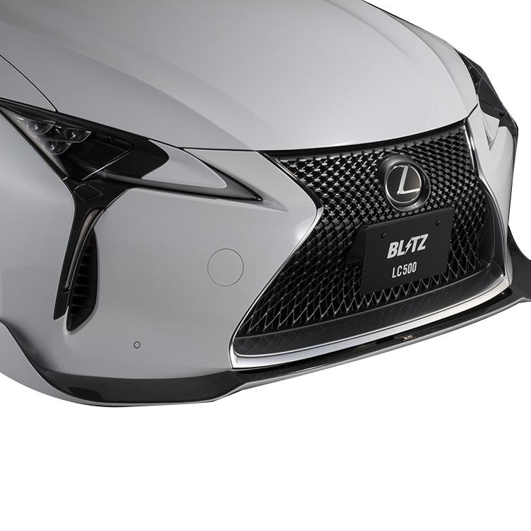 ブリッツ レクサス Z100系 LC500 LC500h フロントリップスポイラー ブラックグラデーションクリアー塗装済み 60286 BLITZ エアロスピード Rコンセプト W