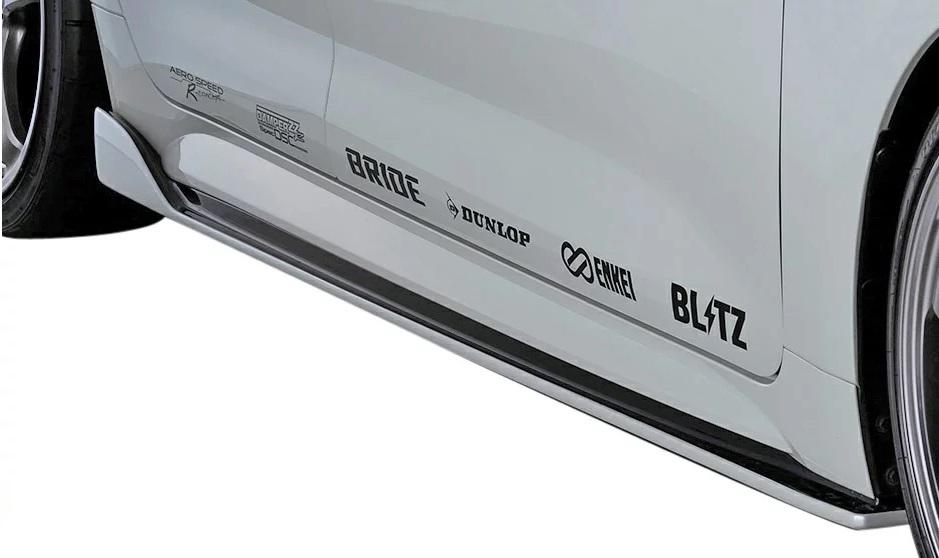 ブリッツ カローラスポーツ カローラスポーツハイブリッド NRE210H NRE214H ZWE211H サイドスポイラー OBM 塗装済 60325 BLITZ AERO SPEED エアロスピード Rコンセプト W