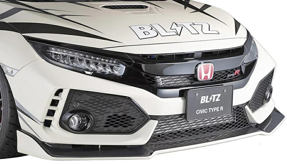 ブリッツ シビック FK8 タイプR フロントリップスポイラー カーボン製 60360 BLITZ AERO SPEED エアロスピード Rコンセプト W