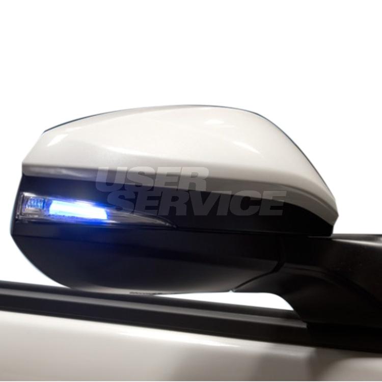 ブラッセン ヴォクシー ZRR80 LEDウィンカーミラーレンズキットT4 LEDブルー、LEDホワイト BRASSEN