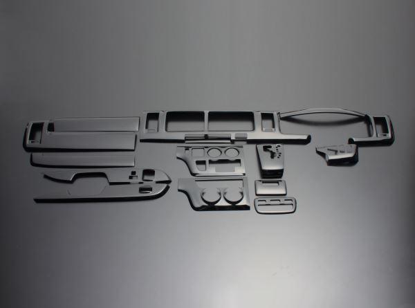 ハイエース レジアスエース FEGGARI フェガーリ ピアノブラック ハイグレード インテリアパネル 15ピース PLT683