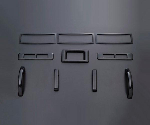 NV350 キャラバン E26 FEGGARI フェガーリ 黒木目 ハイグレード インテリアパネル リア用10ピース PLT897