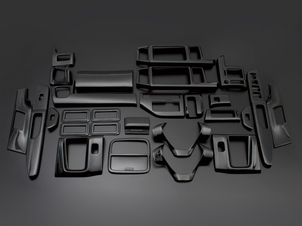 ステップワゴン RK1 2 3 4 5 FEGGARI フェガーリ ピアノブラック ハイグレード インテリアパネル 28ピース PLT619