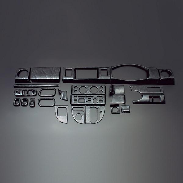 エブリィバン エブリィワゴン DA64V DA64W FEGGARI フェガーリ 黒木目 ハイグレード インテリアパネル 24ピース PLT366