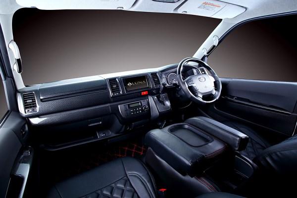 フェガーリ 200 ハイエース 業界No.1 レジアスエース ハイグレード インテリアパネル PLTHS4GDXCA FEGGARI 11 即納送料無料! ~ 内装パーツ 4型 4.5型 2013 カーボン 標準ボディDX用