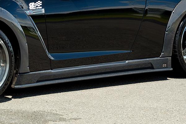 チャージスピード GT-R R35 サイドステップ カーボン製 CHARGE SPEED BottomLine ボトムライン