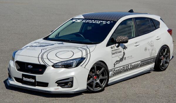 チャージスピード インプレッサスポーツ GT# A/B/C 5ドア 3点セット FRP 未塗装 CHARGE SPEED ボトムライン BottomLine