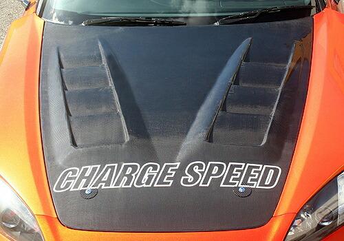 チャージスピード S2000 AP1 2 03/10~ 後期 ボンネット ダクト付 FRP 未塗装 CHARGE SPEED ボトムライン BottomLine