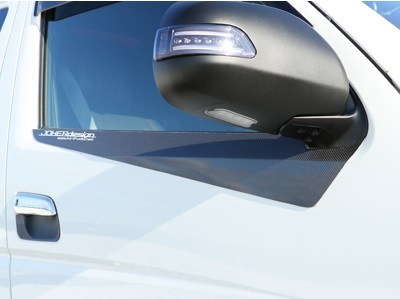 JOKER DESIGN ジョーカー デザイン ハイエース 200系 ガライヤモール ウェザーストリップモール カーボン 品番:EX-09