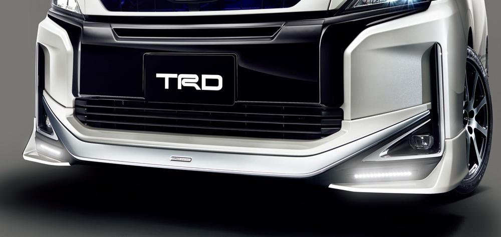 TRD ヴォクシー 80 系 フロントスポイラー LED付 塗装済 MS341-28044 配送先条件有り