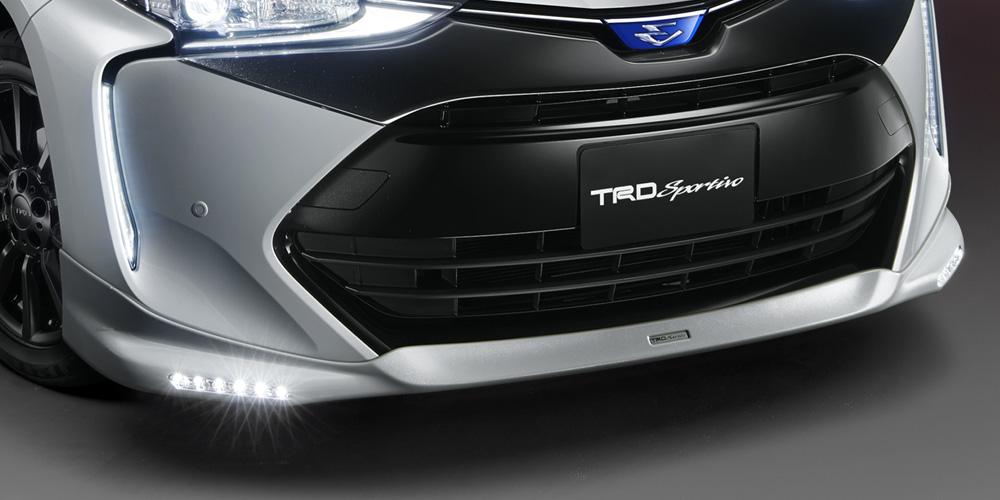 TRD エスティマハイブリッド 50系 フロントスポイラー LED付 塗装済 MS341-28034 配送先条件有り